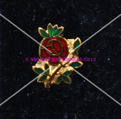 Rose Croix Single Rose Enamel Lapel Pin