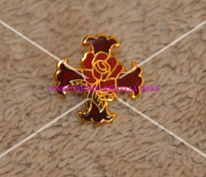Rosicrucian Gold Plated Lapel Pin