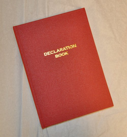 Knights Templar Declaration Book