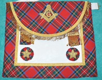Craft Master Masons Apron - double border - Scottish