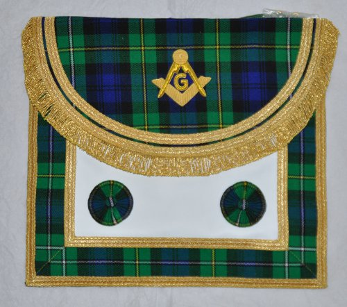 Craft Master Masons Apron - quad border - Scottish
