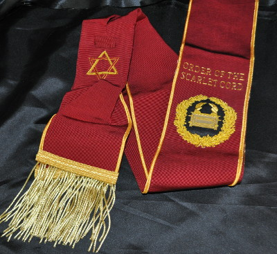 Order of Scarlet Cord - Grand Officers Sash