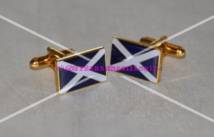 Scotland St. Andrews Cross Rectangular Cufflinks