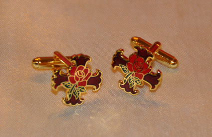 Rosicrucian Cross & Rose Gold Plated Cufflinks