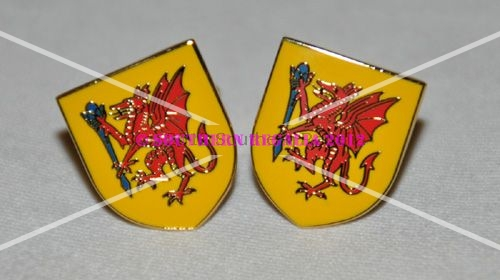 Somerset Flag Gold Plated Enamel Cufflinks