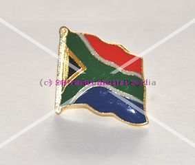 South African Flag Enamel Lapel Pin Badge