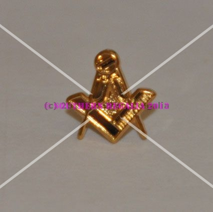 Masonic Square & Compasses Gold Plated Lapel Pin