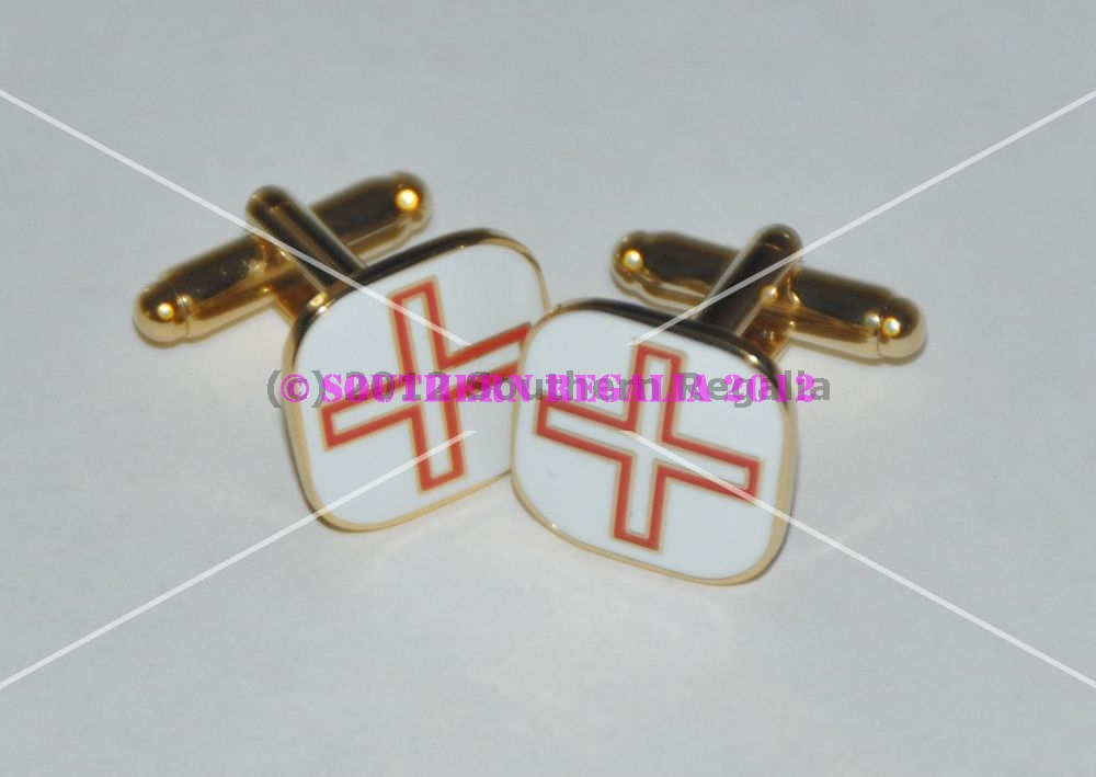 St Thomas of Acon Gold Plated & Enamel Cufflinks