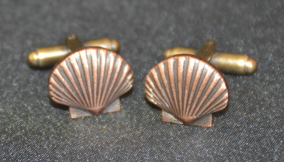 St Thomas of Acon Shell Cufflinks - Bronze