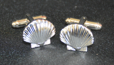 St Thomas of Acon Shell Cufflinks - Silver