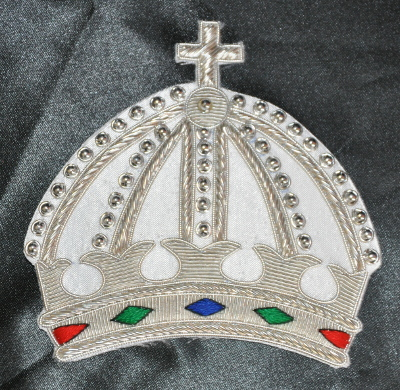 St. Thomas of Acon - Grand Preceptor - Crown Mantle Badge - Embroidered
