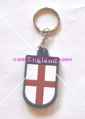 England St. George Flag Shield Keyring