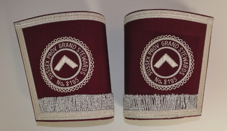 Craft Provincial Grand Stewards Lodge Officers Gauntlets