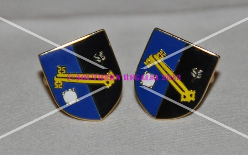 Surrey Flag Gold Plated Enamel Cufflinks