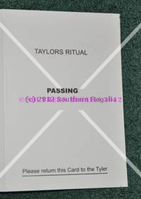 Taylors - Passing Question Card