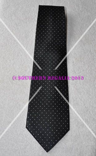 Tie - Black with spots [Rose Croix]