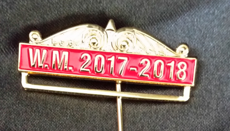Breast Jewel Top Date Bar - WM 2017-2018 - Red Enamel
