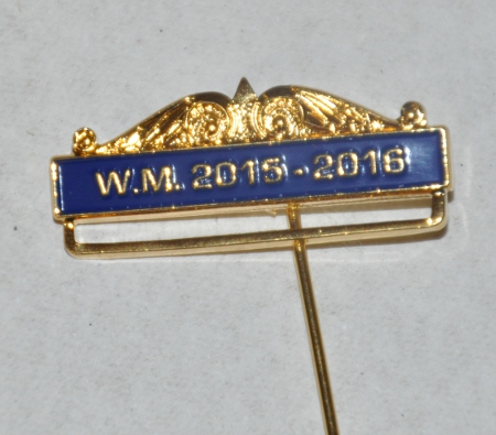 Breast Jewel Top Date Bar - WM 2015-2016 - Blue Enamel