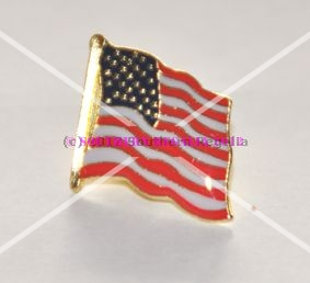 USA Stars & Stripes Flag Lapel Pin Badge