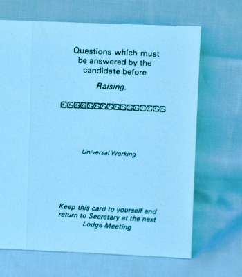 Universal Working - Raising Question Card