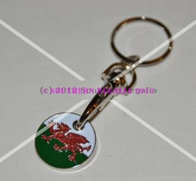 Welsh 3-in-1 Keyring Trolley & Locker Token