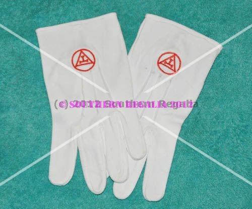 White Gloves - Triple Tau Motif (Small)