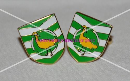 Wiltshire Flag Gold Plated Enamel Cufflinks
