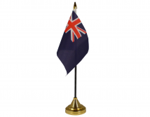 Royal Navy Blue Ensign Flag (Table Top) with stick