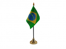Brazil Flag (Table Top) with stick