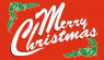 Merry Christmas Flag (5' x 3') with eyelets
