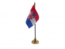 Croatia Flag (Table Top) with stick