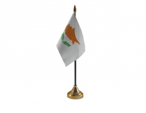Cyprus Flag (Table Top) with stick