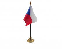 Czech Republic Flag (Table Top) with stick