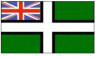 Devon Ensign Flag (5' x 3') with eyelets