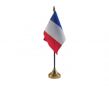 France Flag (Table Top) with stick
