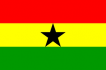 Ghana Flag (5' x 3') with eyelets