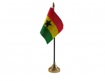 Ghana Flag (Table Top) with stick