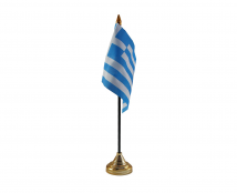 Greece Flag (Table Top) with stick