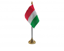 Hungary Flag (Table Top) with stick