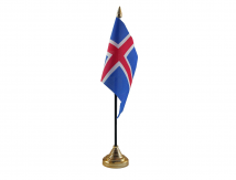 Iceland Flag (Table Top) with stick