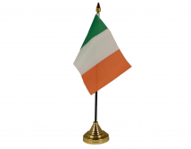 Republic of Ireland Flag (Table Top) with stick
