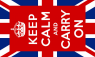 Keep Calm and Carry On Union Jack Flag (5' x 3') with eyelets
