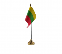 Lithuania Flag (Table Top) with stick