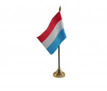 Luxembourg Flag (Table Top) with stick