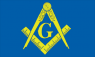 Masonic Square & Compasses with G Flag (3' x 2') with eyelets