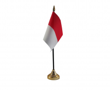 Monaco Flag (Table Top) with stick