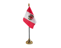Peru Flag (Table Top) with stick