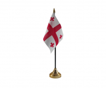 Knights Templar Flag (Table Top) with stick